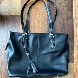Black tignanello tote bag